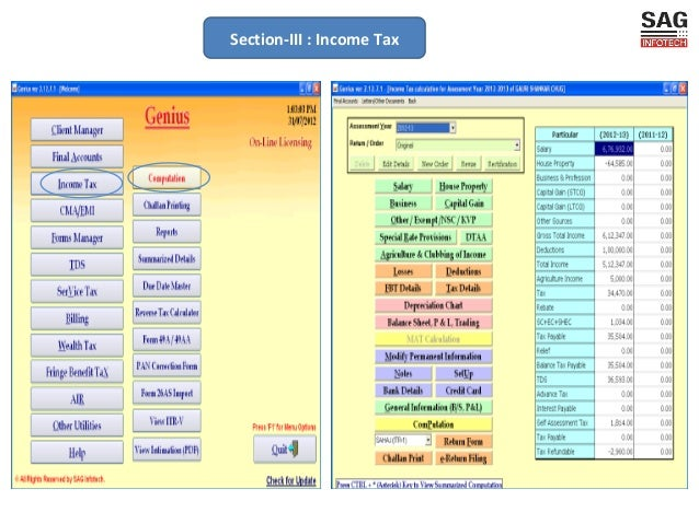 Genius-A combo Pack of Income, TDS, Service Tax E-filing