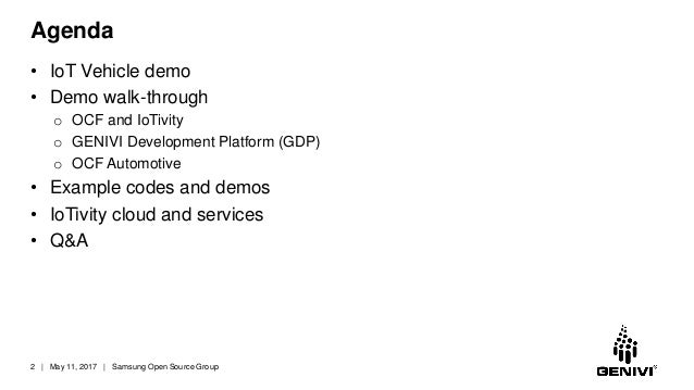GENIVI + OCF Cooperation Slide 2