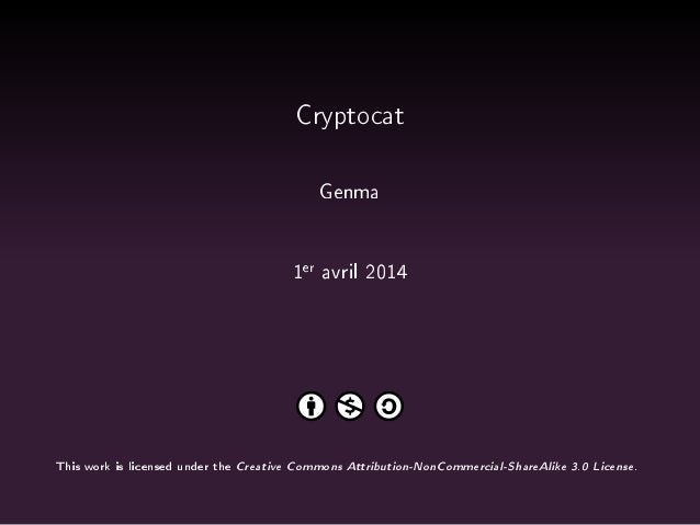 Genma - Initier une conversation dans Cryptocat