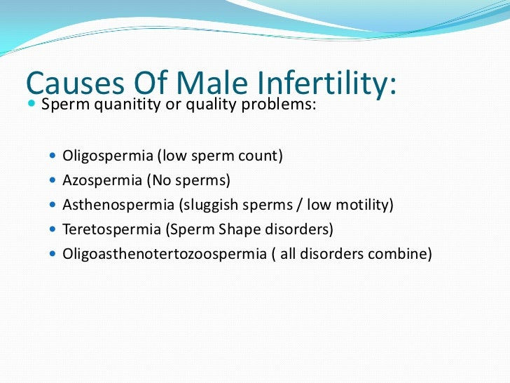 Drugs and sperm quality