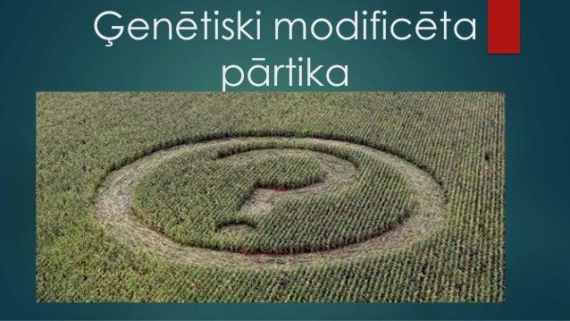 Ģenētiski modificēta pārtika