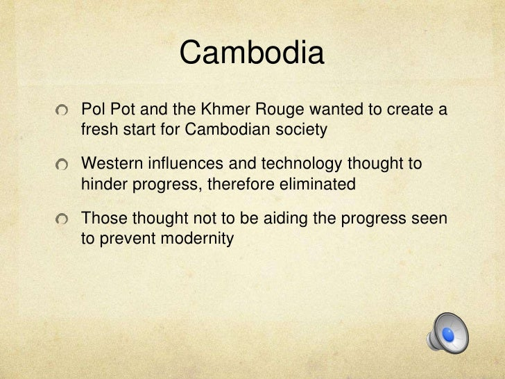 to what extent was pol pots Background and context to the question pol pot (real name saloth sar) was the  leader of the khmer rouge or red khmer regime it ruled cambodia from 17.