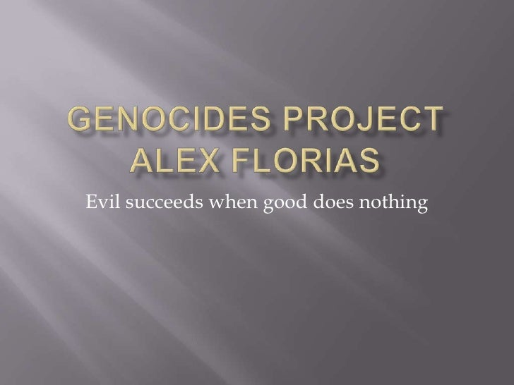 Evil succeeds when good does nothing