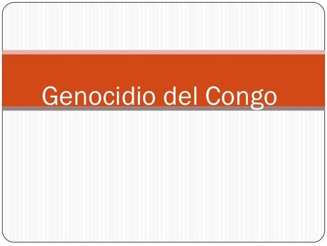 Genocidio del Congo