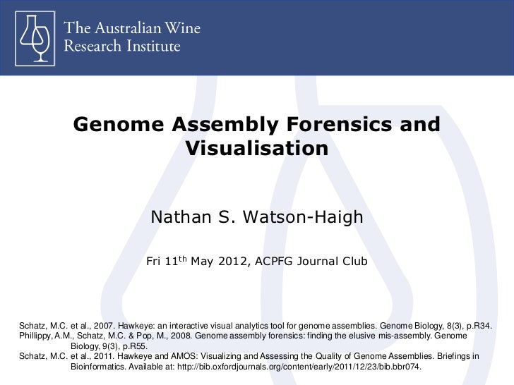Genome Assembly Forensics and                      Visualisation                                  Nathan S. Watson-Haigh  ...