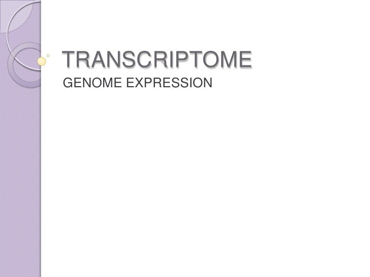 TRANSCRIPTOME<br />GENOME EXPRESSION<br />