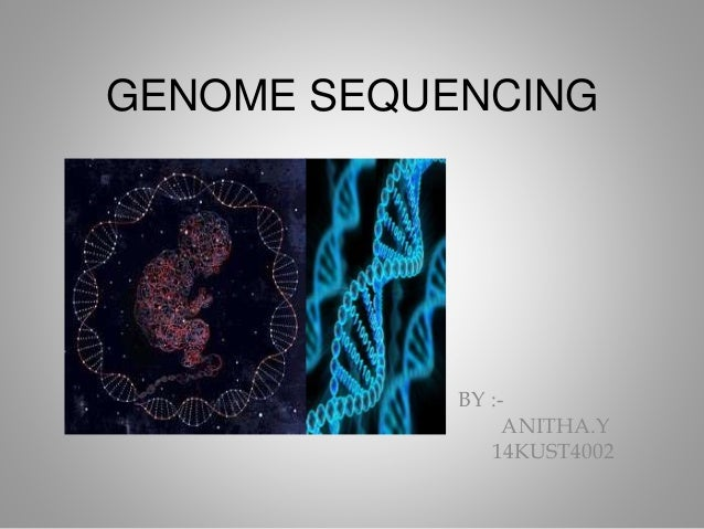 GENOME SEQUENCING BY :- ANITHA.Y 14KUST4002