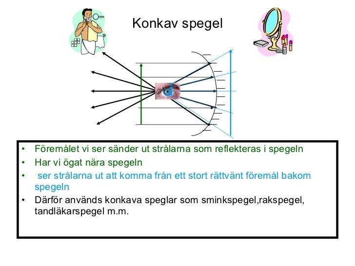 konkav och konvex spegel