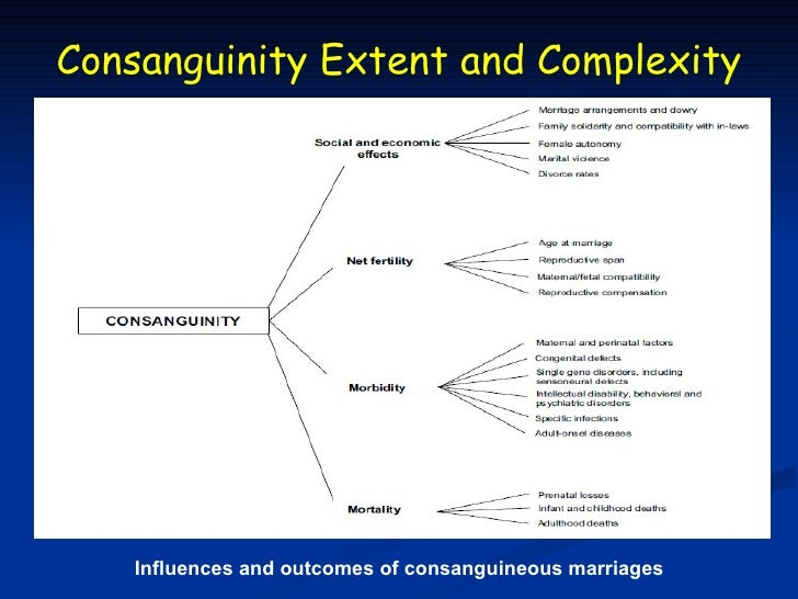 Consanguinity Extent and Complexity   Influences and outcomes of consanguineous marriages