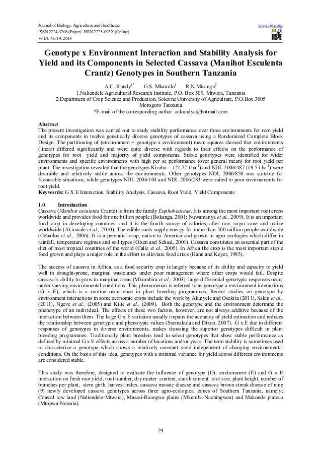 Gene environment essay Paper