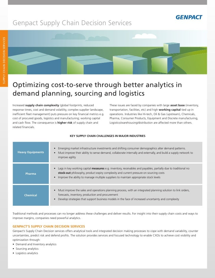 Genpact Supply Chain Decision ServicesSUPPLY CHAIN DECISION SERVICES                                 Optimizing cost-to-se...