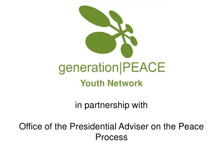 Youth Networkin partnership withOffice of the Presidential Adviser on the Peace Process<br />