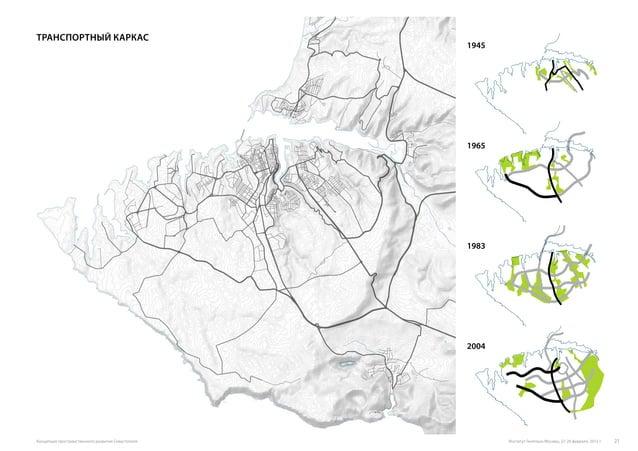 Транспортный каркас 1945 1965 1983 2004 Институт Генплана Москвы, 27-28 февраля, 2015 г.Концепция пространственного развит...