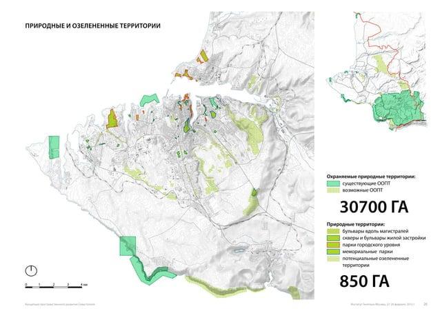 Охраняемые природные территории: существующие ООПТ возможные ООПТ Природные территории: бульвары вдоль магистралей скверы ...