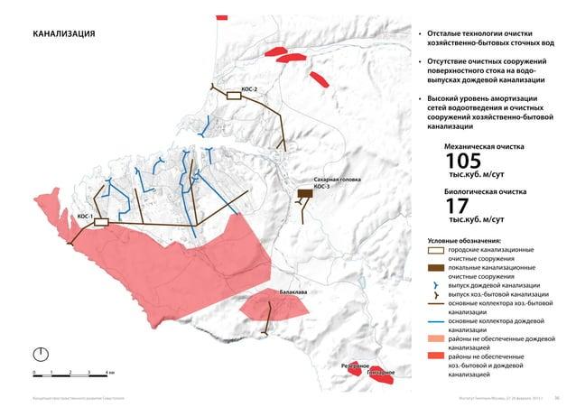 Канализация 0 1 2 3 4 км Условные обозначения: городские канализационные очистные сооружения локальные канализационные очи...