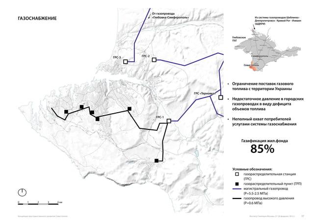 газоснабжение 0 1 2 3 4 км Условные обозначения: газораспределительная станция (ГРС) газораспределительный пункт (ГРП) маг...
