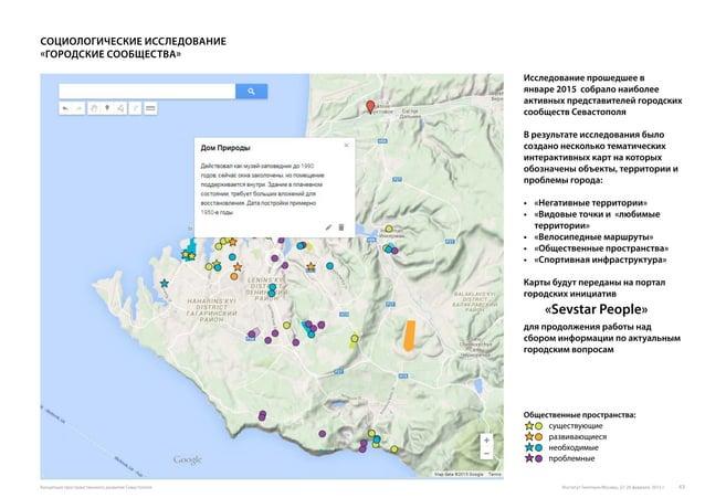 Общественные пространства: существующие развивающиеся необходимые проблемные Исследование прошедшее в январе 2015 собрало ...
