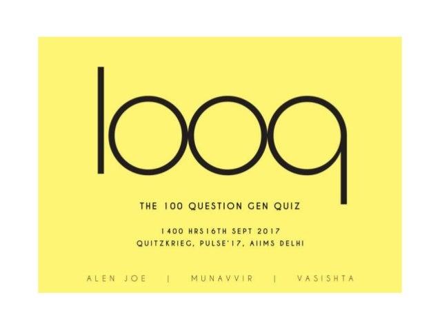 General Quiz 2017 (100 Q quiz)