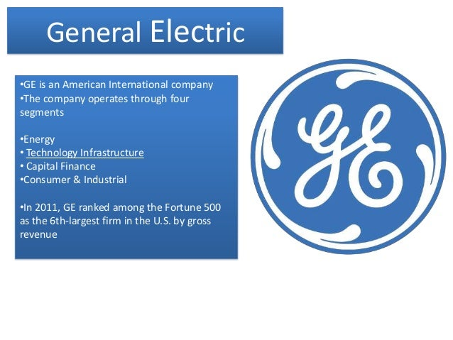 General Electric essay