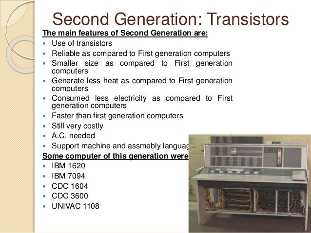 second generation computers Read more: generations of computers - first, second, third, fourth & fifth in details 17k views tom borkowski, former control systems designer at boeing what are some examples of a fifth generation computer ask new question still have a question ask your own ask.