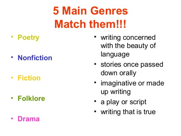 different types of essay genres This is a list of genres of genres in video games are somewhat different from other forms of art as but are secondary to the genre types.