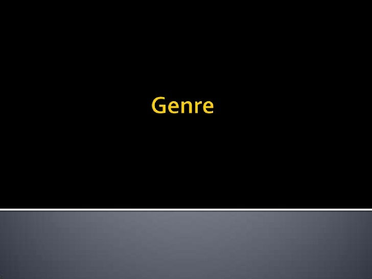 Genre<br />