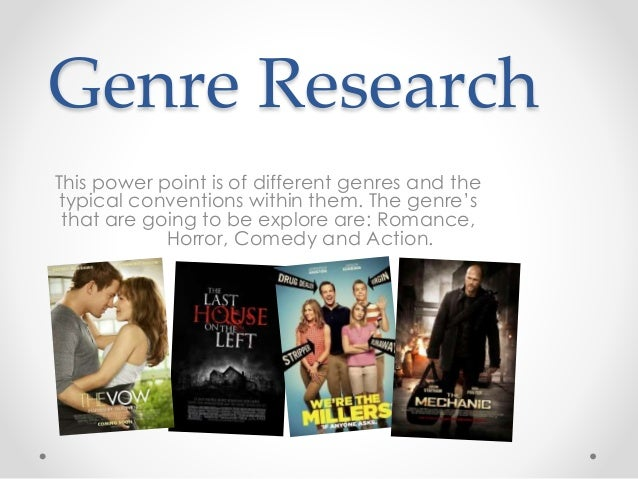 research on genre Research genres - free download as pdf file (pdf), text file (txt) or read online for free.