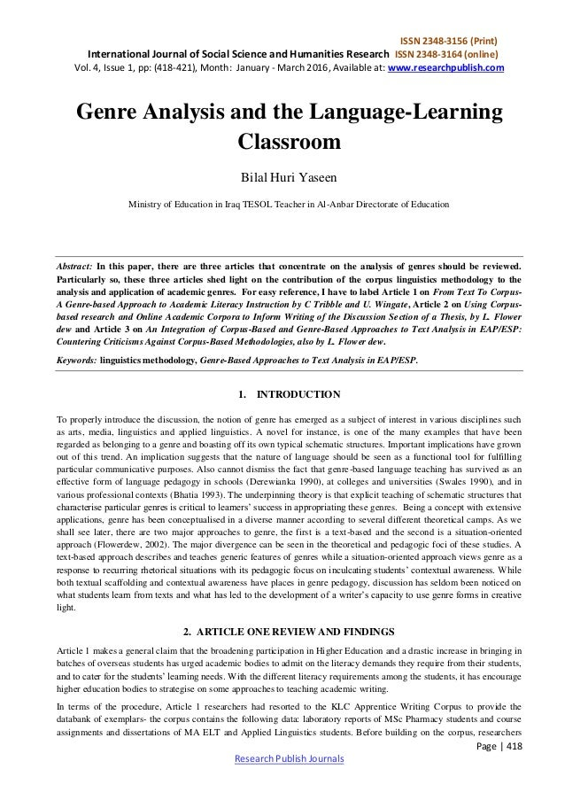examples of essays on philosophy of education  ul  li Genre sets  abstract and introduction in the research paper