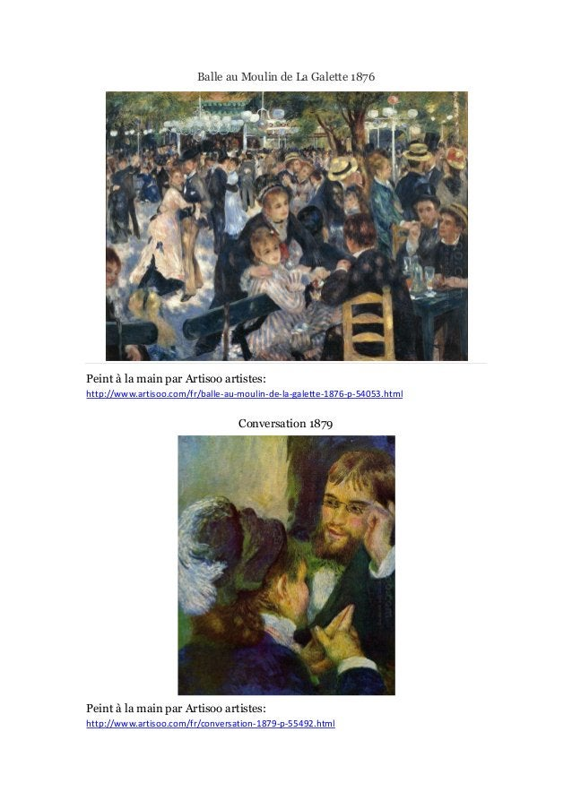 Balle au Moulin de La Galette 1876  Peint à main par Artisoo artistes: la http://www.artisoo.com/fr/balle-au-moulin-de-la-...
