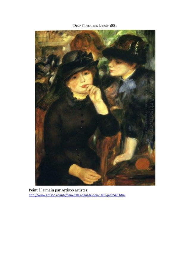 Deux filles dans le noir 1881  Peint à main par Artisoo artistes: la http://www.artisoo.com/fr/deux-filles-dans-le-noir-18...