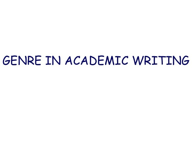 definition of genre in academic writing