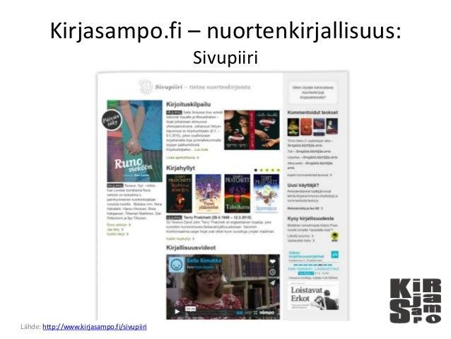 Kirjasampo.fi – nuortenkirjallisuus: Sivupiiri Lähde: http://www.kirjasampo.fi/sivupiiri