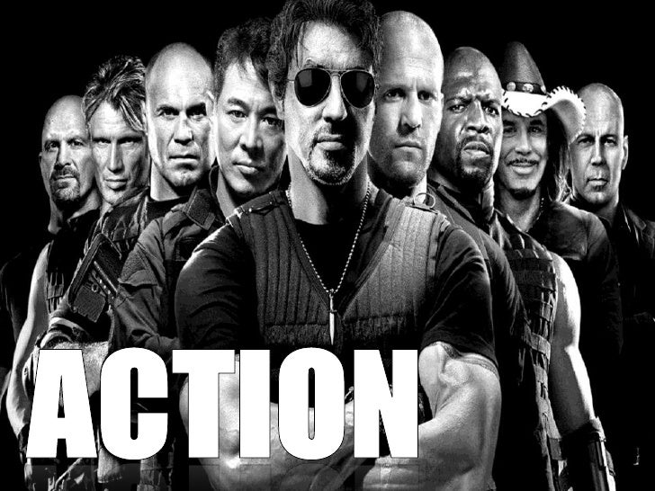 An action film is based around either oneperson or a group facing challenges. Normally      involving fights, chase scenes...
