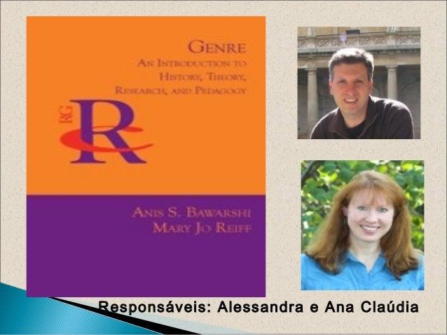 Responsáveis: Alessandra e Ana Claúdia