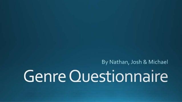 Horror Genre questionnaire