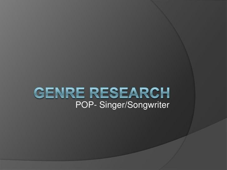 POP- Singer/Songwriter