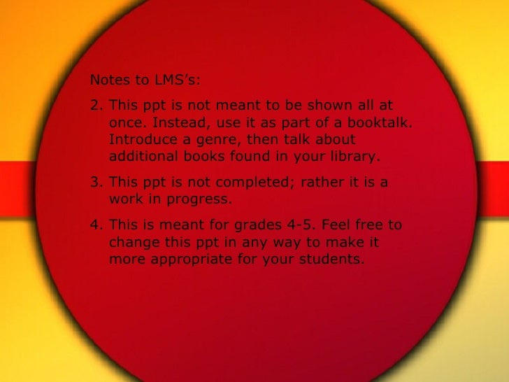 <ul><li>Notes to LMS's: </li></ul><ul><li>This ppt is not meant to be shown all at once. Instead, use it as part of a book...