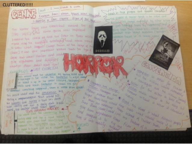 An essay on basic principles in horror movie genre