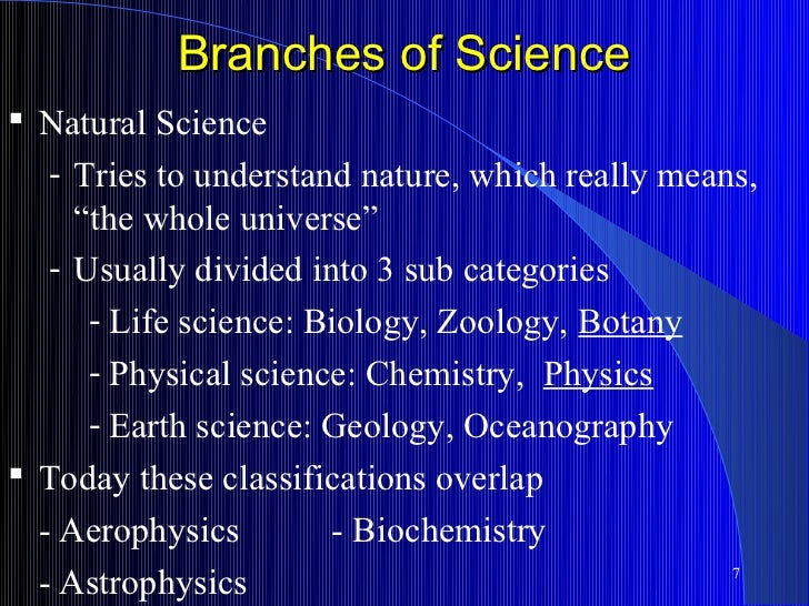 an overview of three branches of science biology chemistry and geology Overview biology has probably the most accessible content of the three sciences,  a-level chemistry,  environmental science geology medical science medicine.