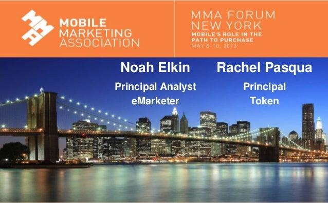 Mobile Marketing AssociationRachel PasquaPrincipalTokenNoah ElkinPrincipal AnalysteMarketer