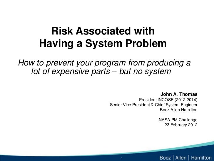 Risk Associated with     Having a System ProblemHow to prevent your program from producing a  lot of expensive parts – but...