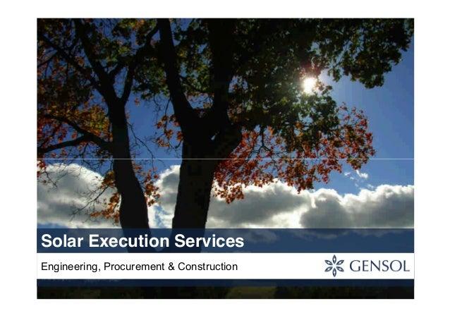 Solar Execution ServicesEngineering, Procurement & Construction