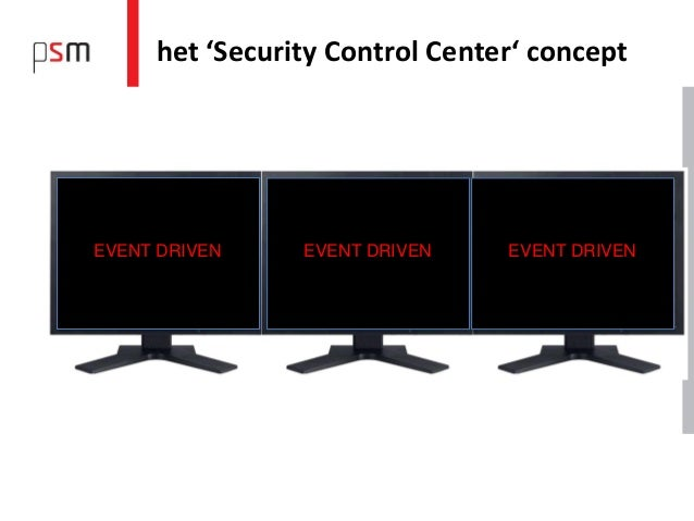 het 'Security Control Center' conceptEVENT DRIVEN    EVENT DRIVEN    EVENT DRIVEN