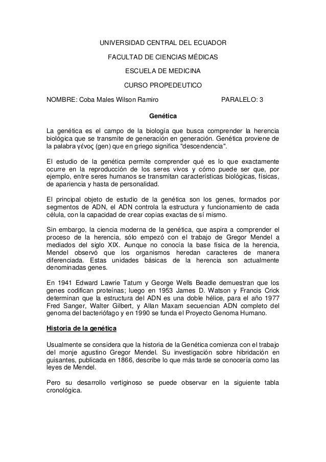 UNIVERSIDAD CENTRAL DEL ECUADOR                    FACULTAD DE CIENCIAS MÉDICAS                          ESCUELA DE MEDICI...