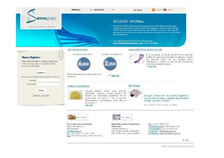 • omercial y servicios  C -Empresas con oferta de servicios en técnicas genéticas (análisis de DNA, RNA (secuenciación, m...