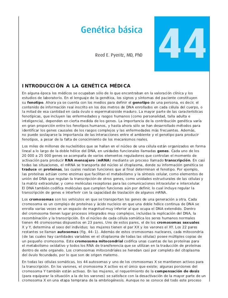 44                                  Genética básica                                          Reed E. Pyeritz, MD, PhDINTRO...