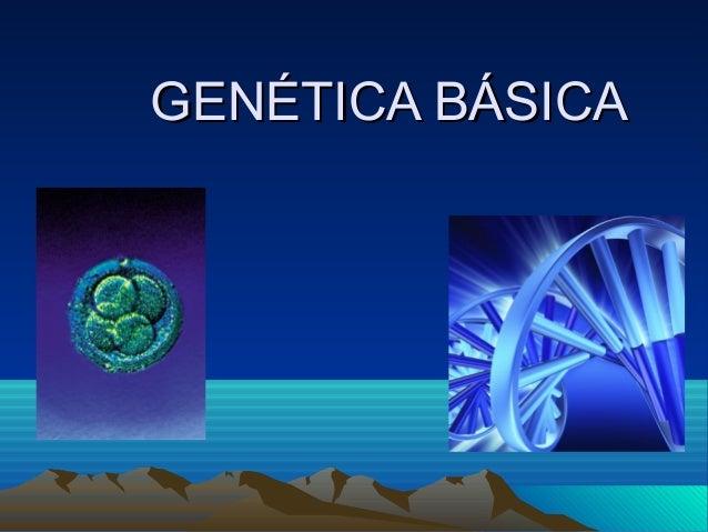 GENÉTICA BÁSICAGENÉTICA BÁSICA