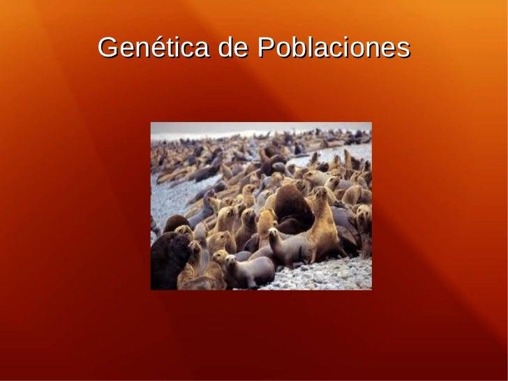 Genética de Poblaciones