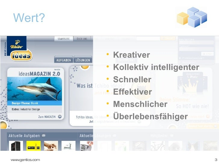 Wert? <ul><ul><li>Kreativer </li></ul></ul><ul><ul><li>Kollektiv intelligenter </li></ul></ul><ul><ul><li>Schneller </li><...