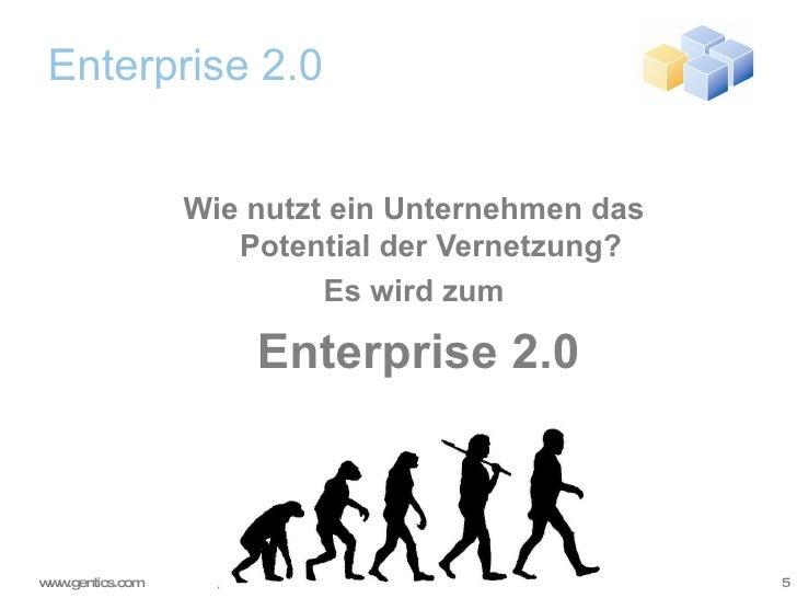 Enterprise 2.0 <ul><ul><li>Wie nutzt ein Unternehmen das  Potential der Vernetzung? </li></ul></ul><ul><ul><li>Es wird zum...